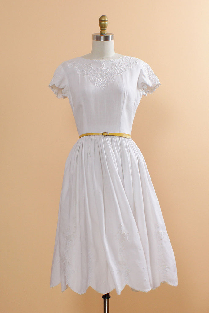 Embroidered Confection Dress XS