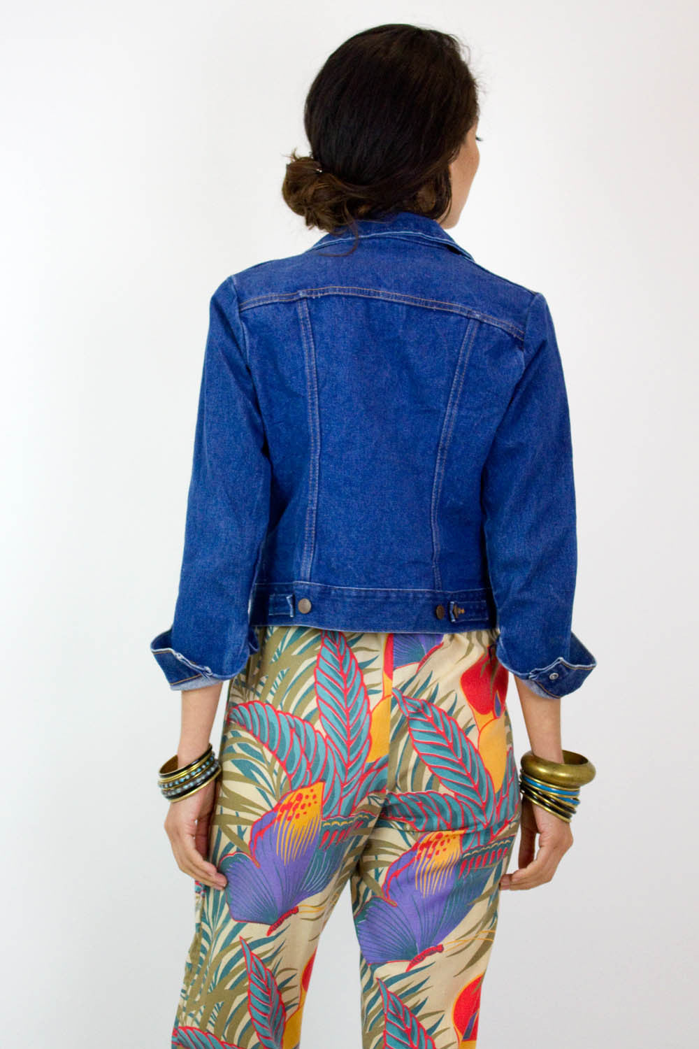 Shrunken Wrangler Denim Jacket XS