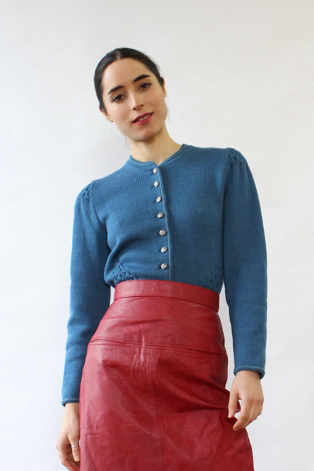 Geiger Blue Sweater Jacket S/M