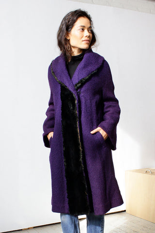 Bell Sleeve Boucle Coat M