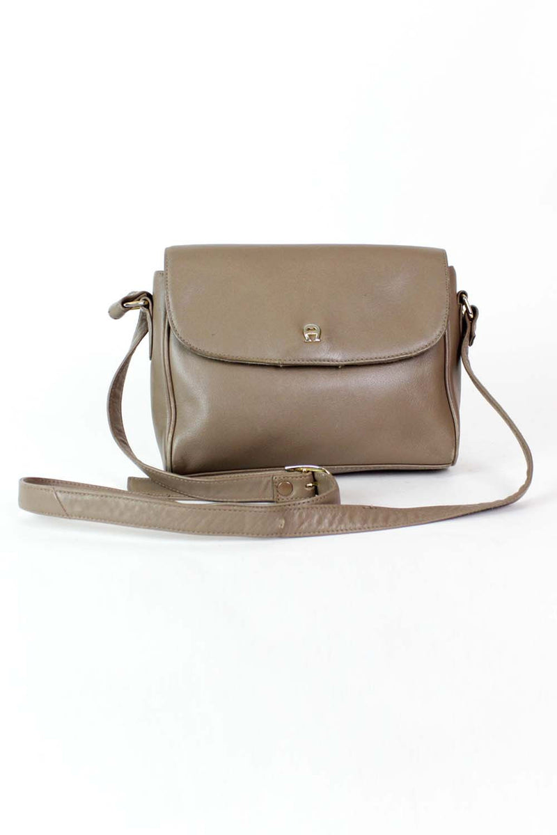 ~ Marked Down ~ Aigner Taupe Crossbody Bag
