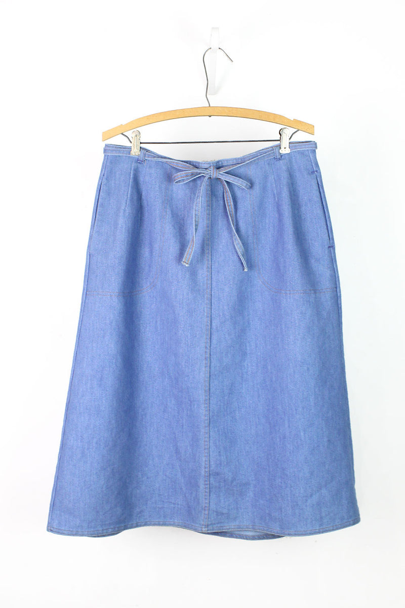 Koret Denim Wrap Skirt M/L