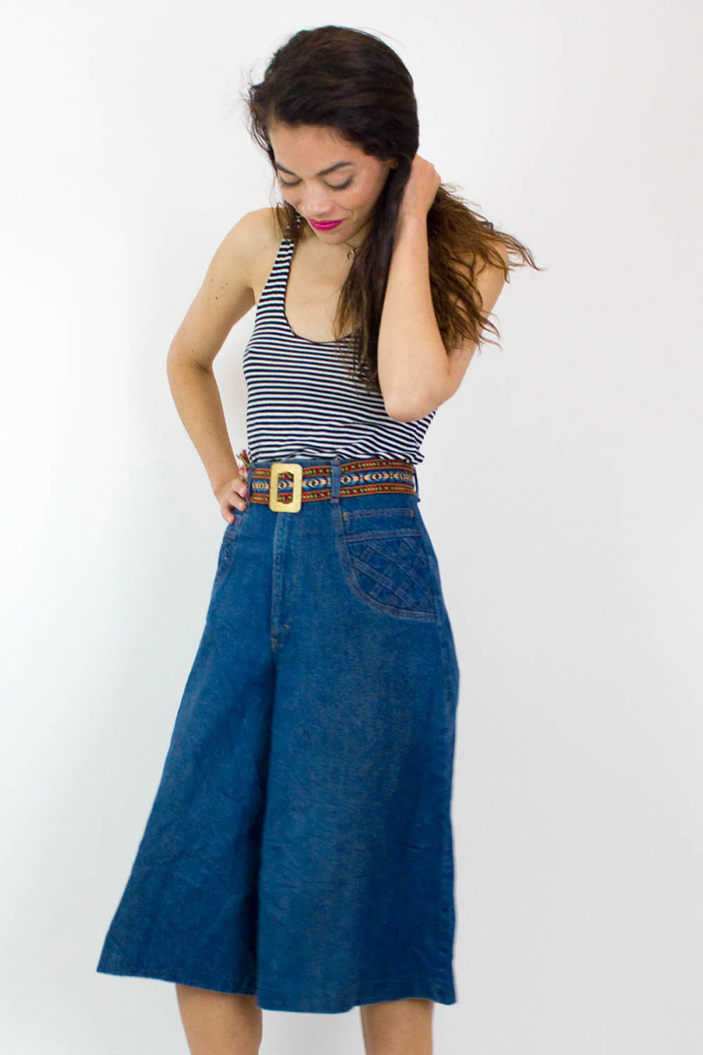 70s Denim Culottes S