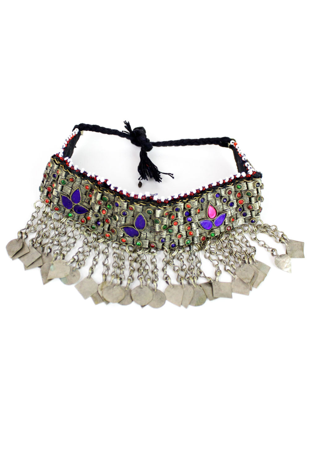fringed tribal choker