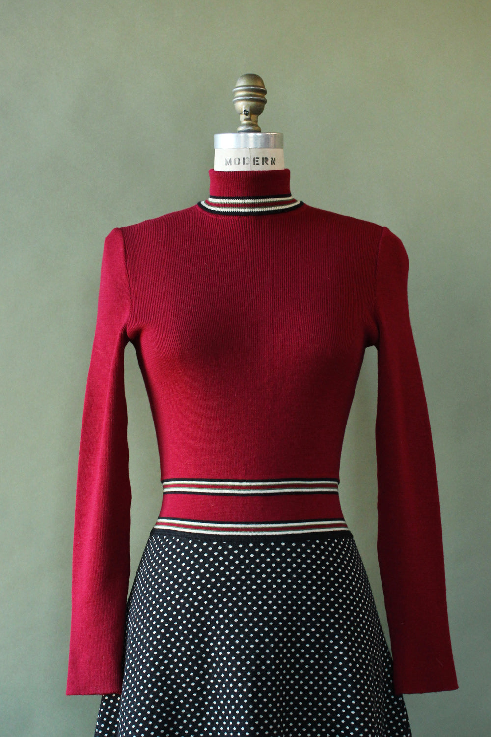 Cranberry Italian Wool Sweater Dress M/L
