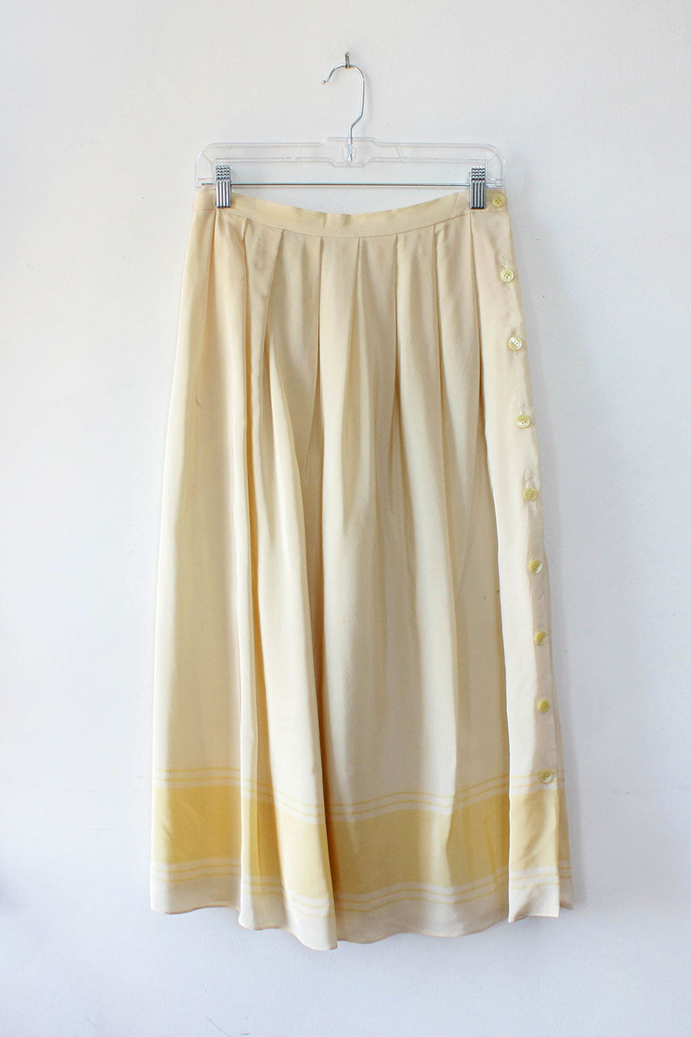 Blonde Silk Midi Skirt M