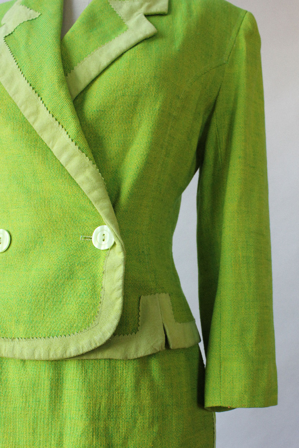 Lime Green Skirt Suit XS/S