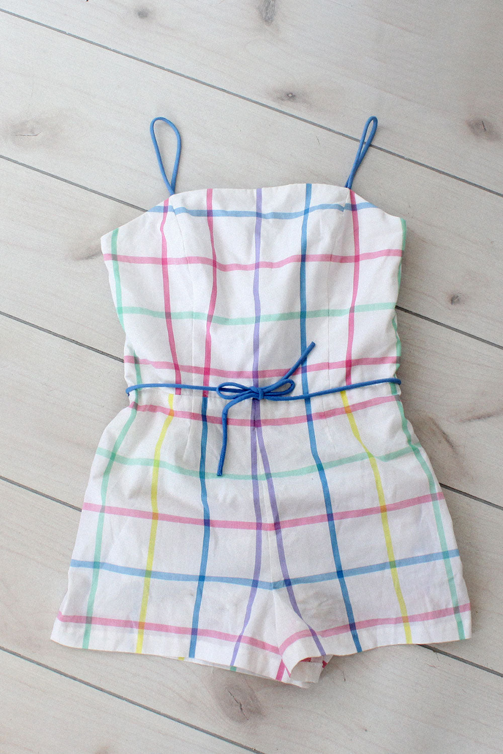 Pastel Plaid Playsuit M