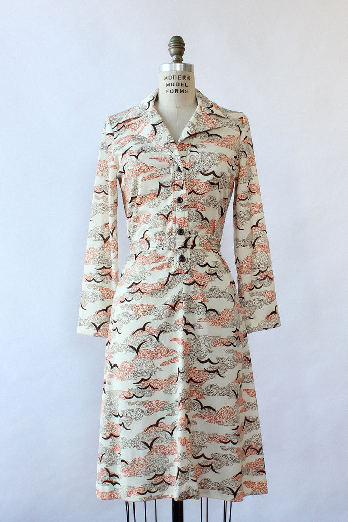 Seagull Silhouette Shirtdress M