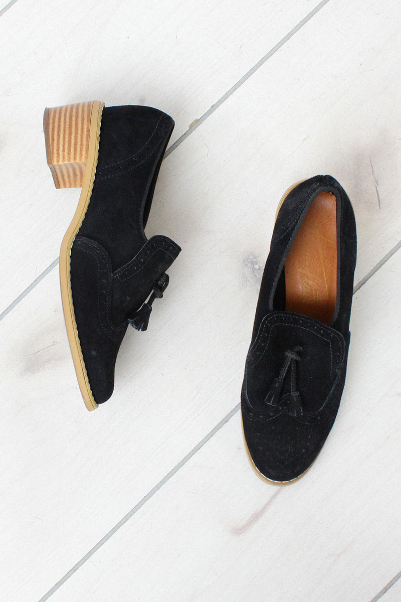 Chunky Suede Loafers 7 1/2