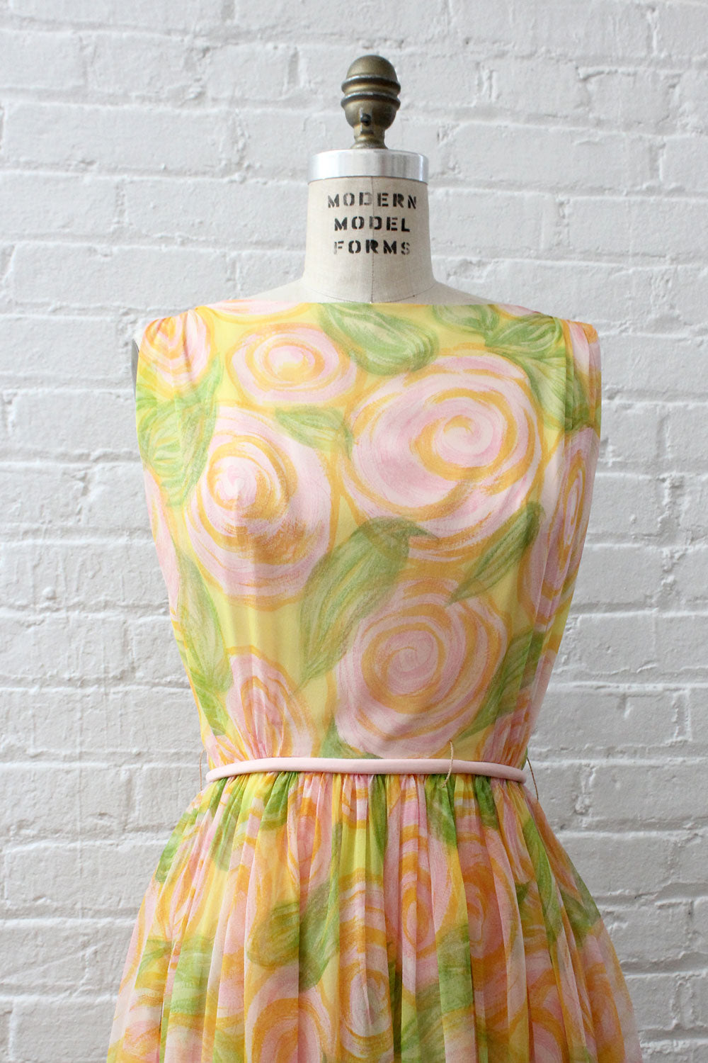Swirl Chiffon Party Dress S/M