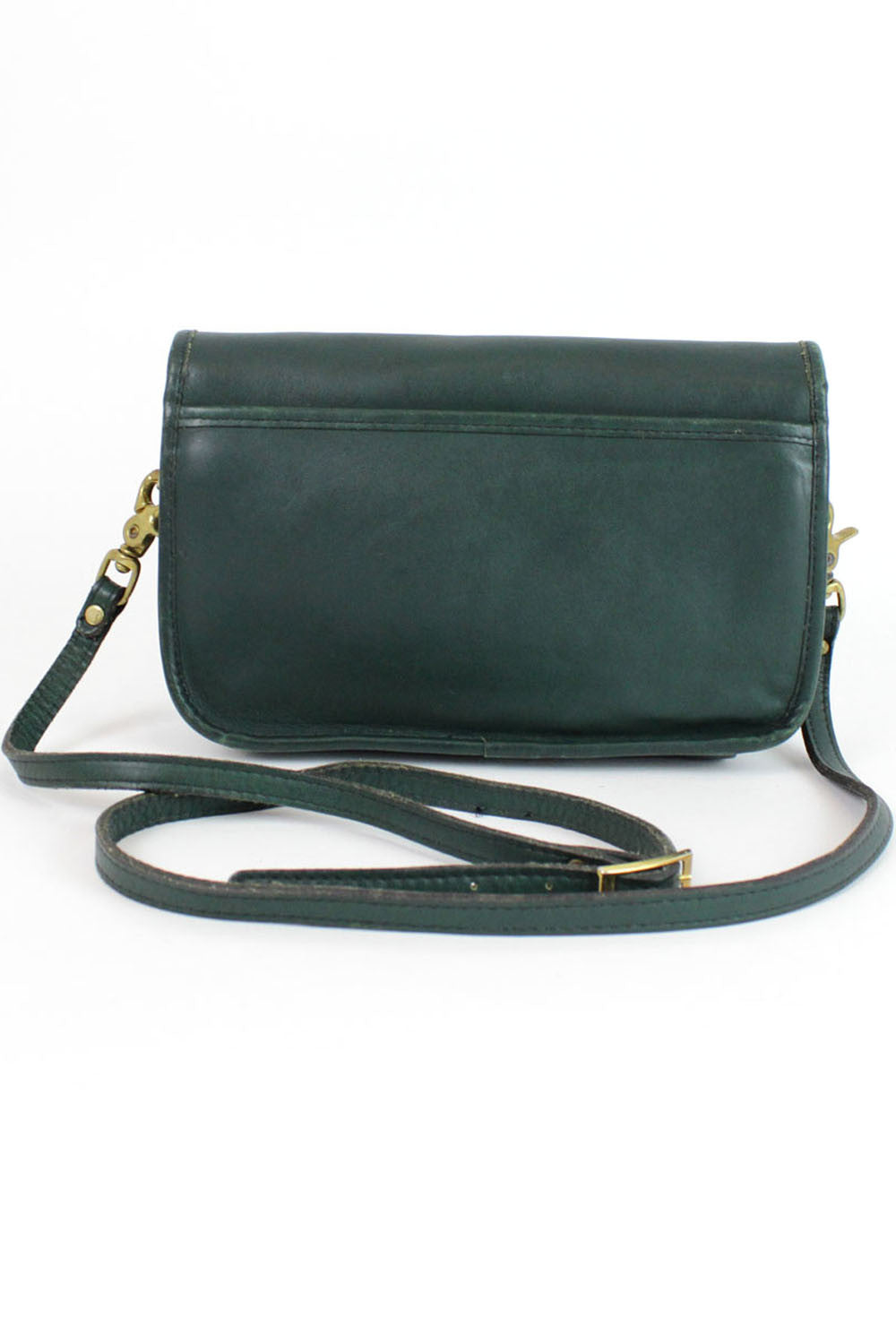 hunter green turnlock bag