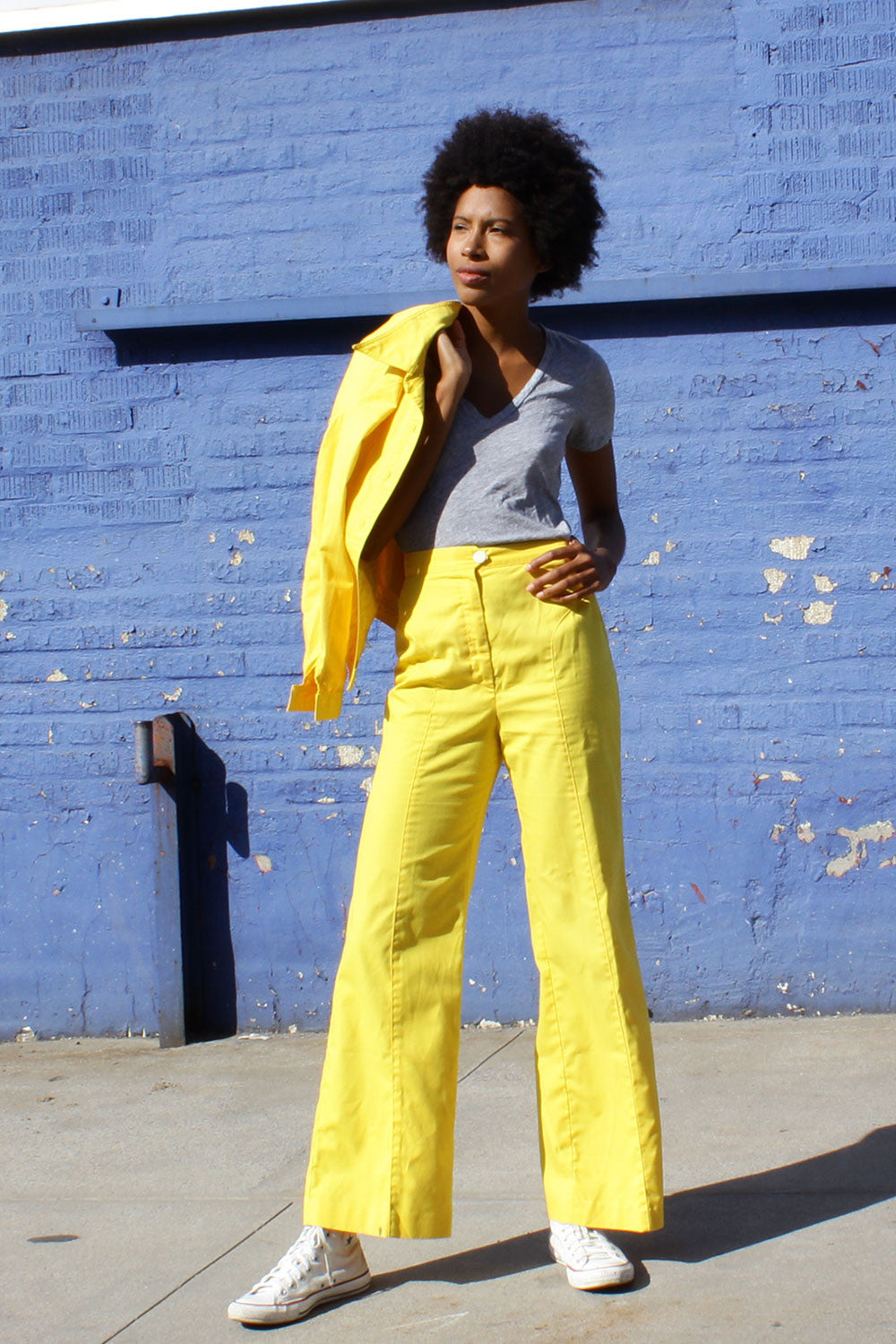 Banana Yellow 1970s Suit S