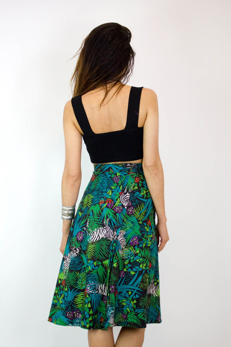 Zebras in the Bushes Wrap Skirt