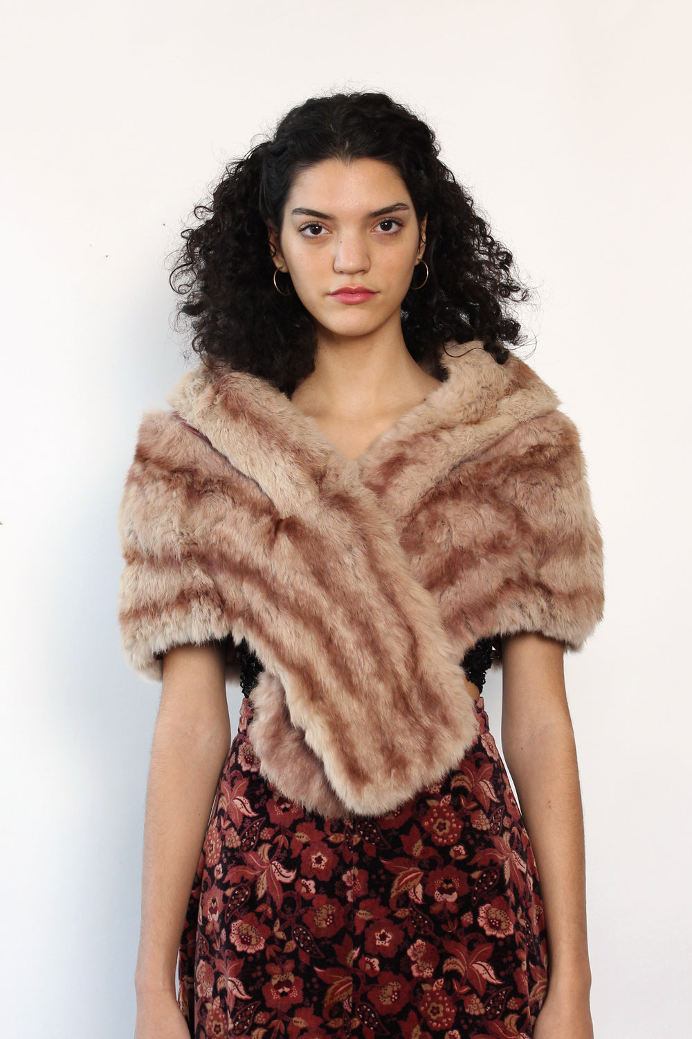Rabbit Fur Capelet Shawl