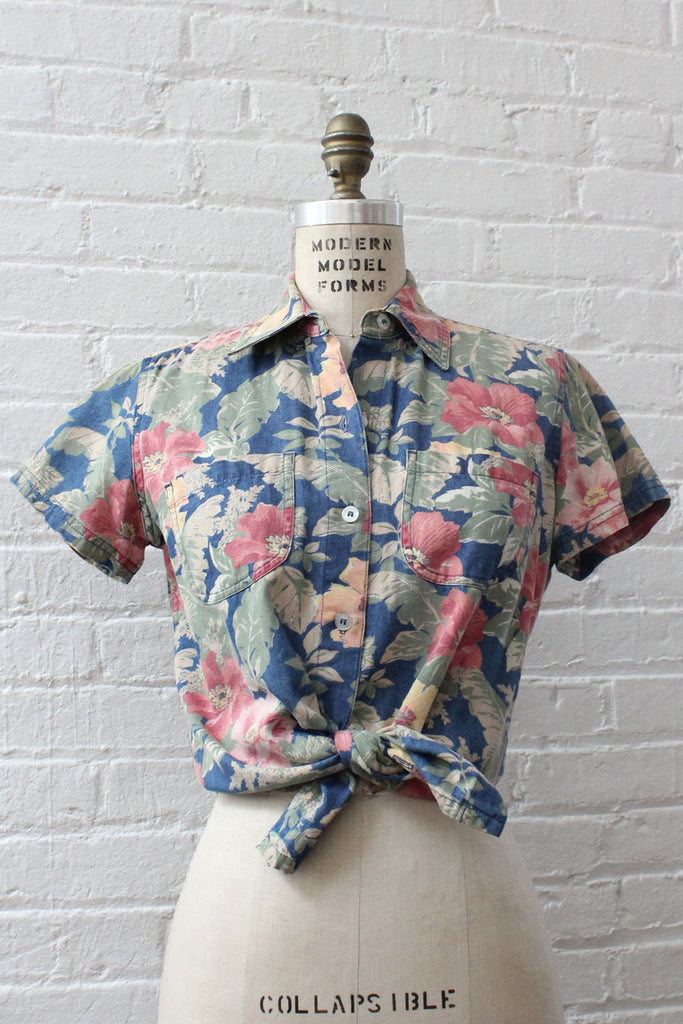 Hazy Tropical Buttondown S/M