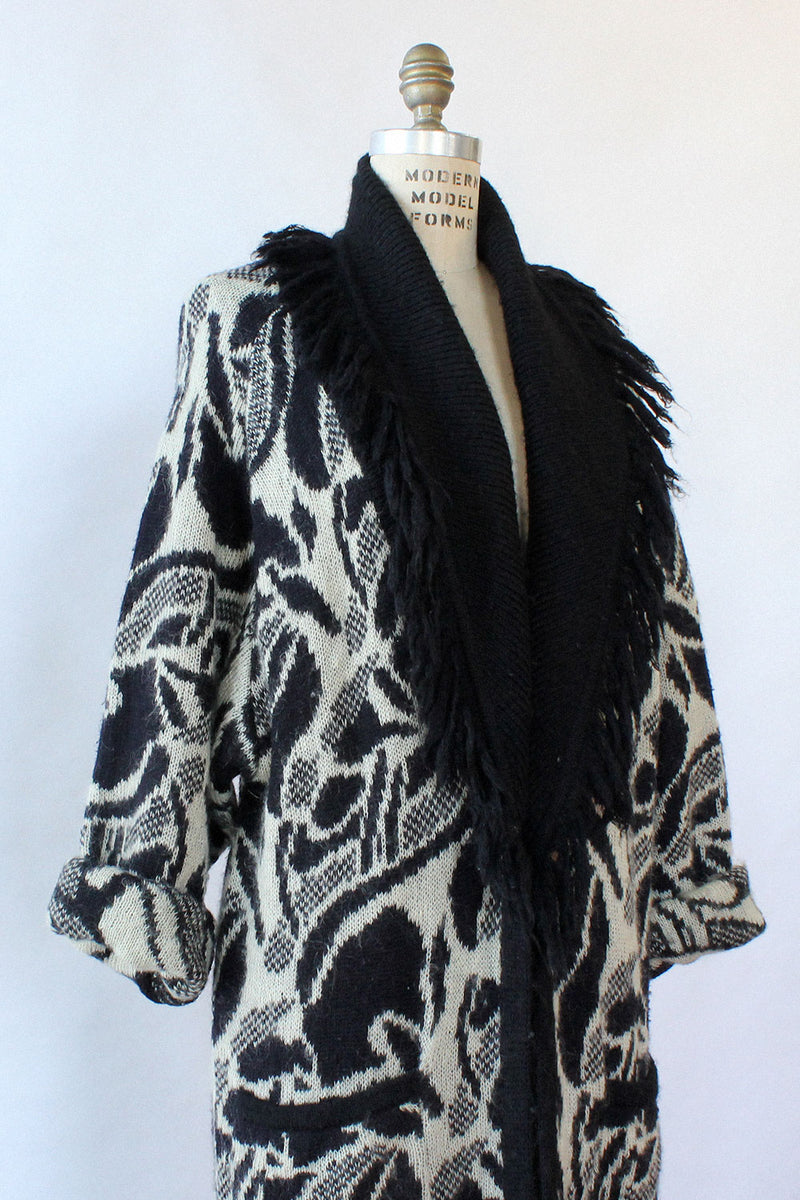 Abstract Cardigan Duster