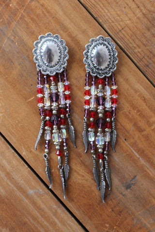 Sterling Concho Pin