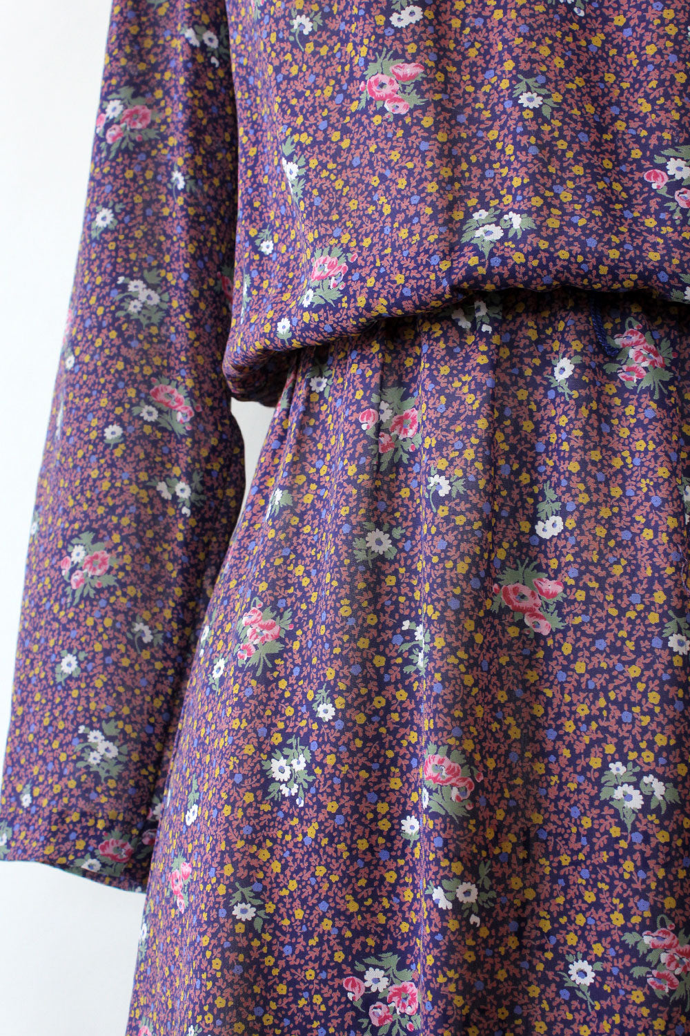 Violet Ditsy Floral Rayon Dress XS-M