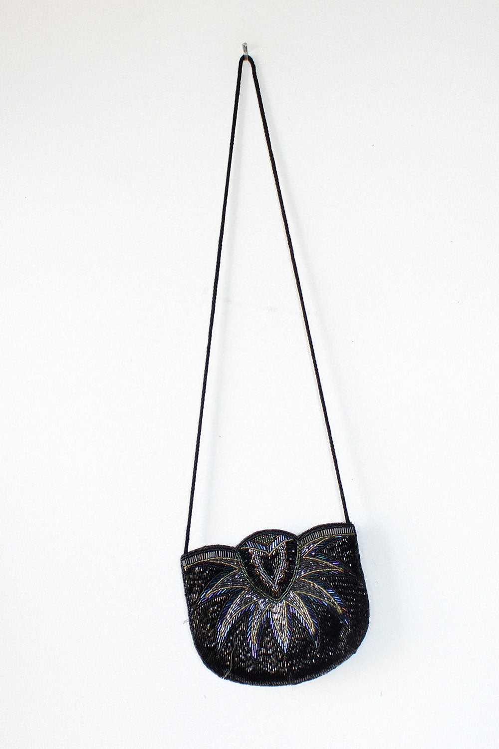 Beaded Deco Crossbody Bag