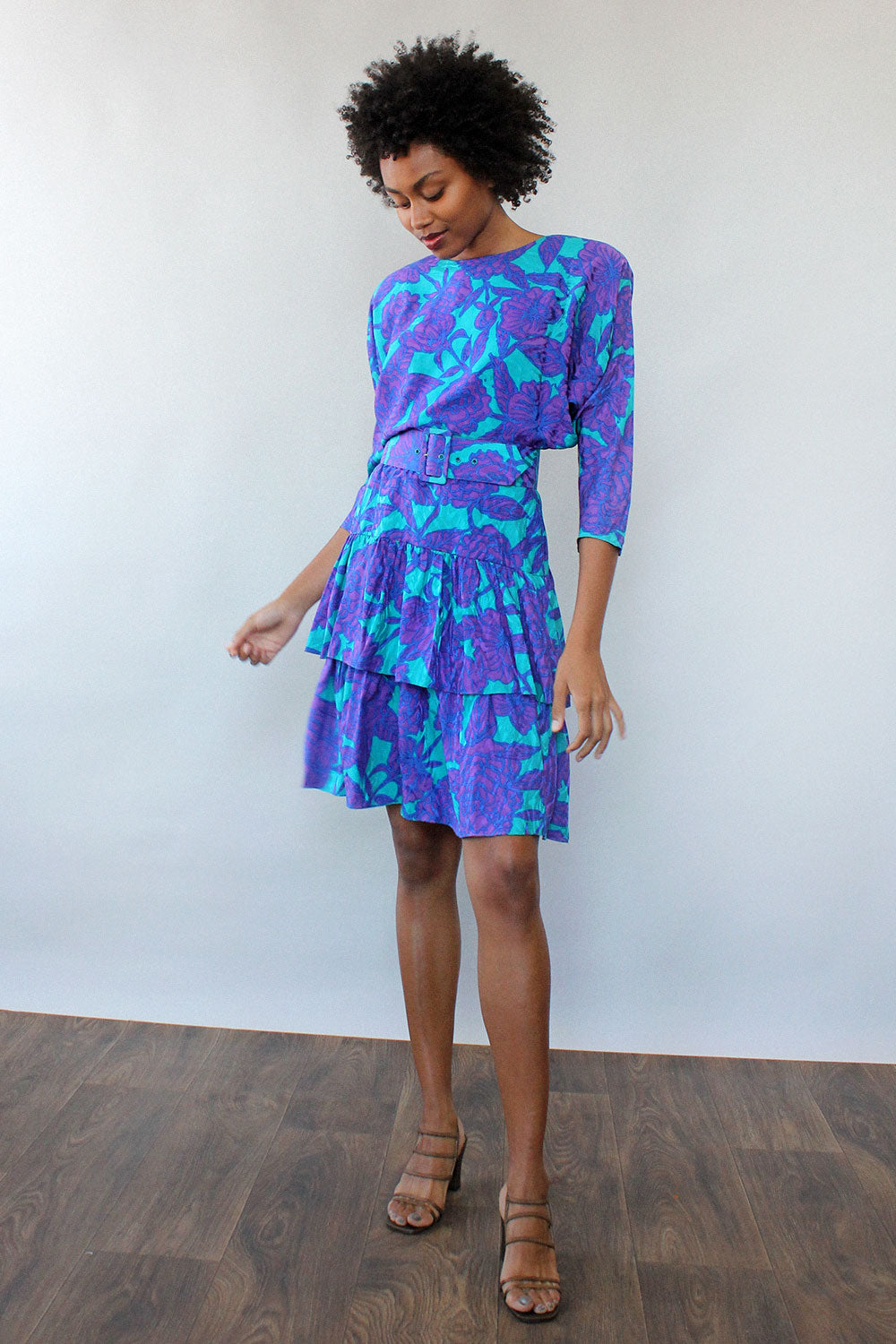 St. Gillian Silk Layer Dress S