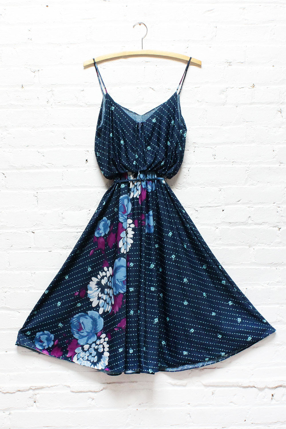 70s Blueberry Dress S/M