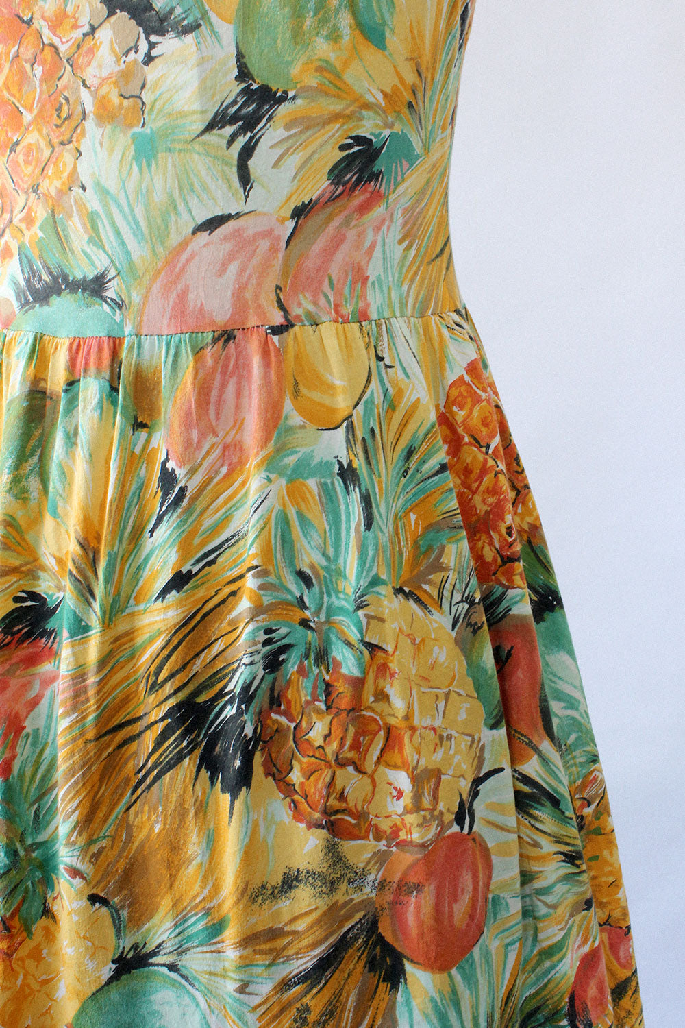 Pineapple Print Sundress M/L
