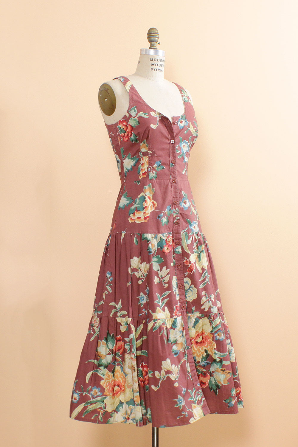 Mauve Rose Cotton Dress M