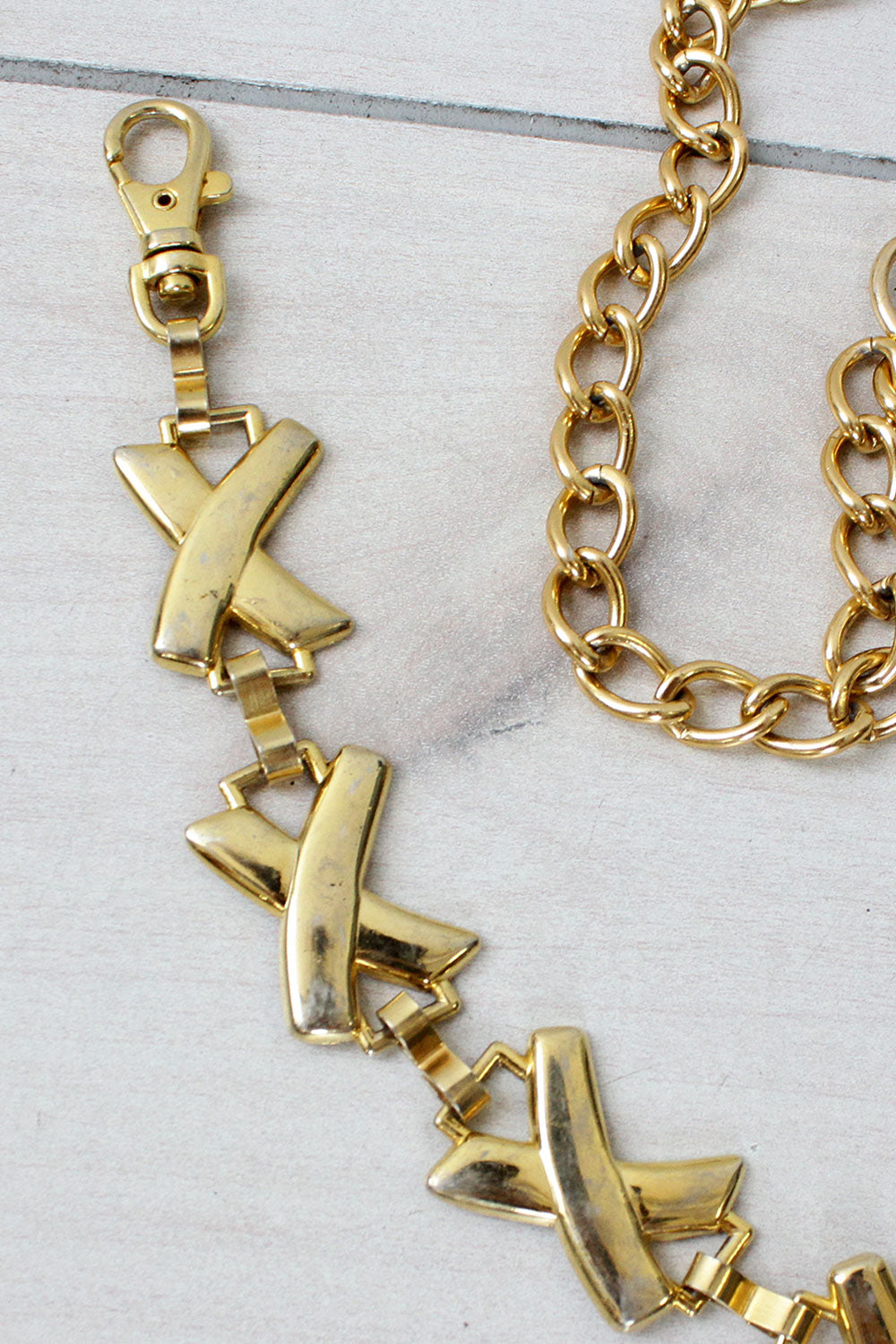 Gold XX Chain Belt