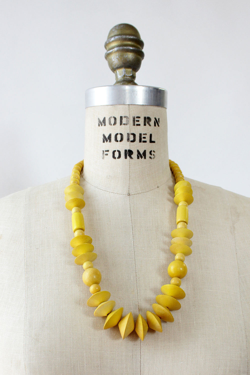 Daffodil Wood Bead Necklace