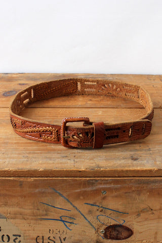 Red Leather Harness Belt