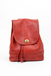 Coach ruby red saddle leather backpack