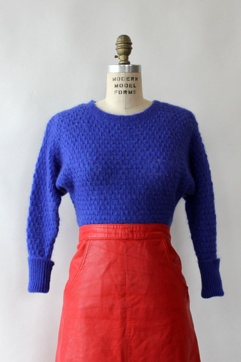 Ultramarine Tuck Stitch Sweater XS-M