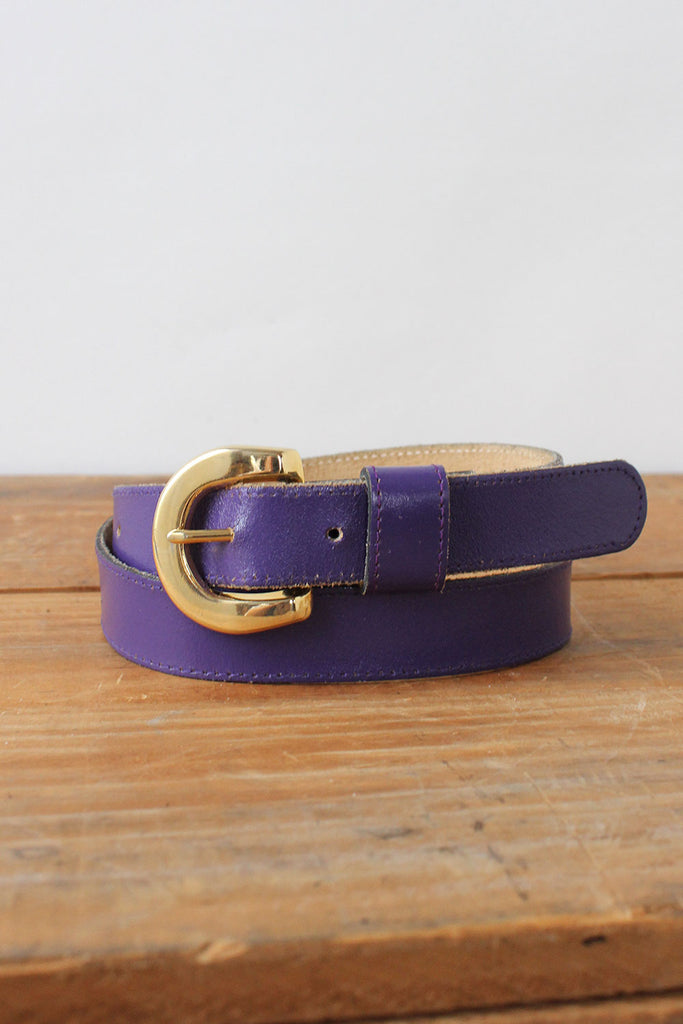 Grape Leather Belt
