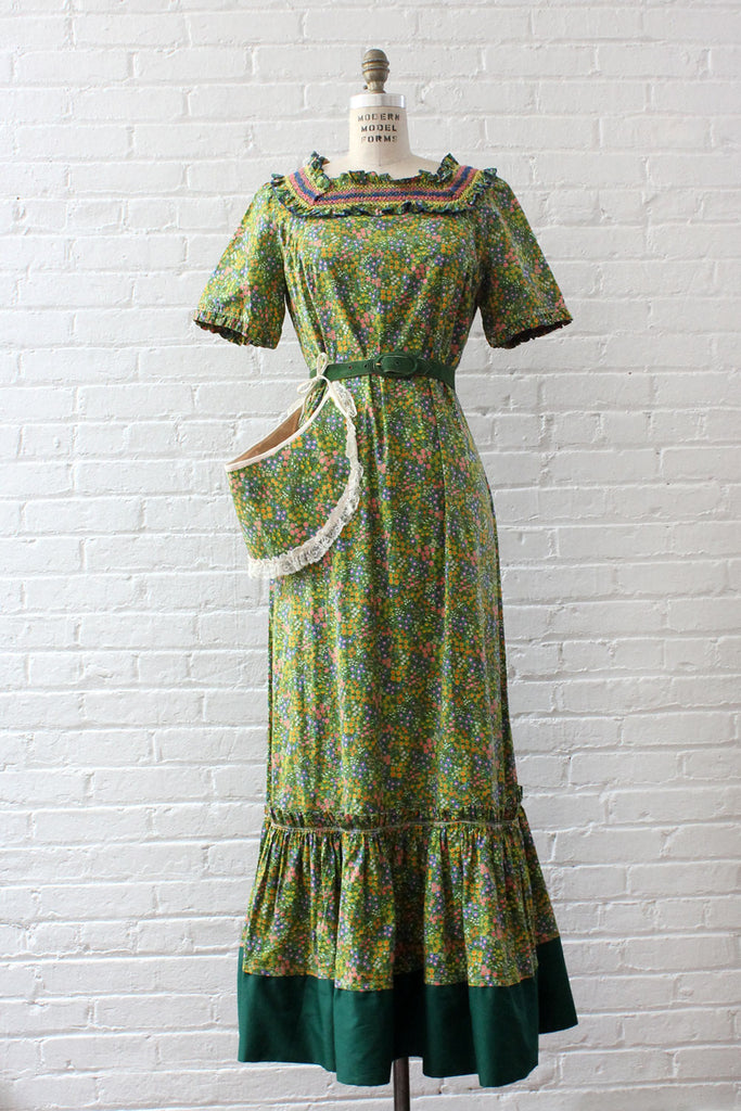 Wildflower Maxi Dress w/ Sun Visor S-L