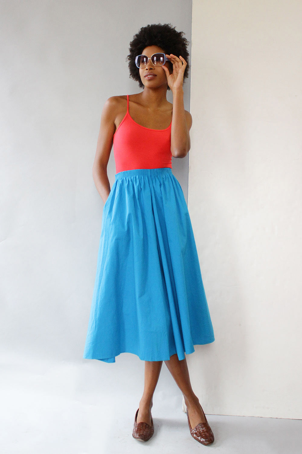 Bluebell Cotton Skirt