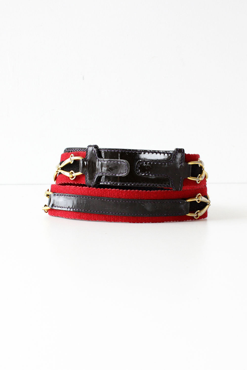 Gucci Navy & Stripe Web Belt