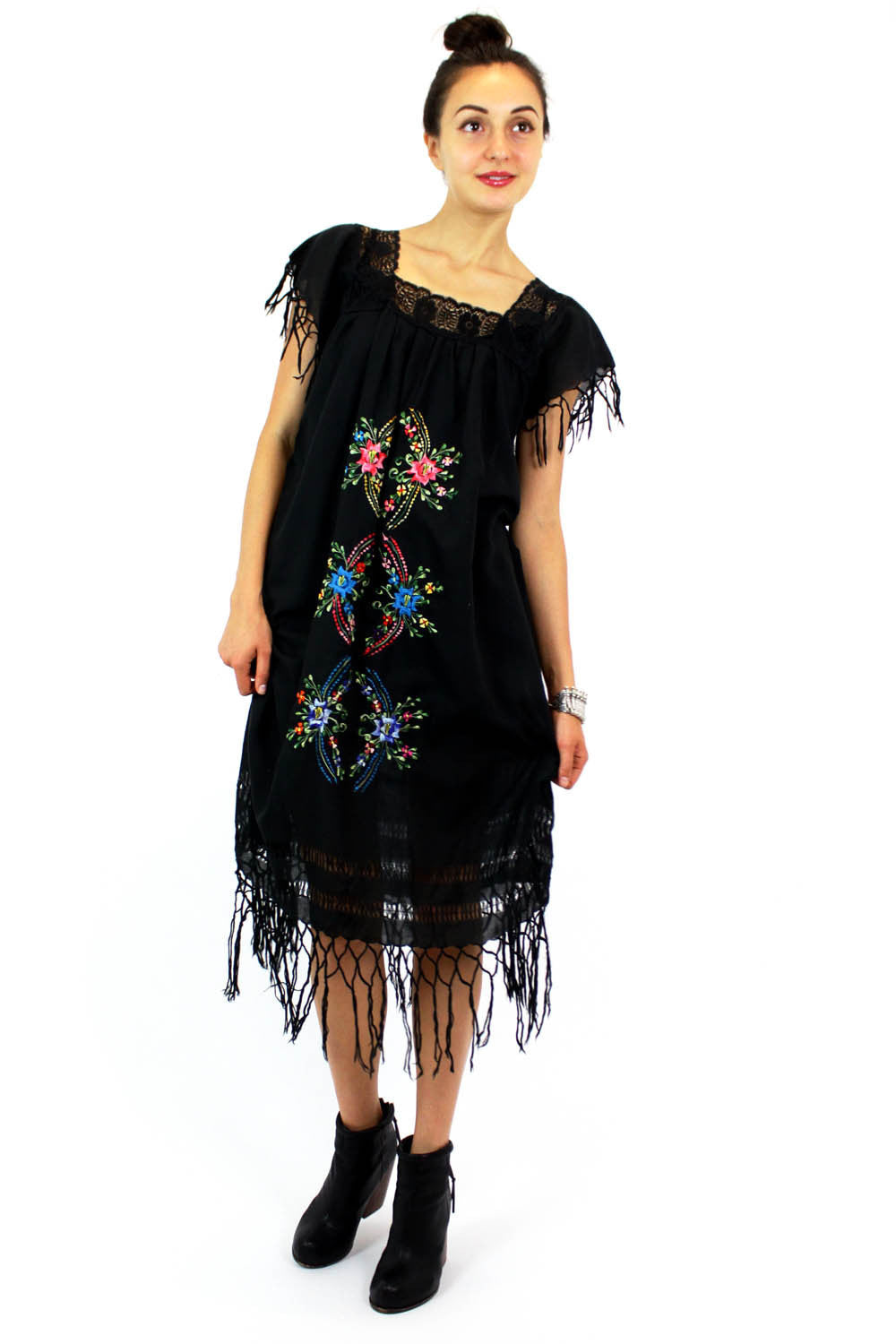 Mercado fringe dress