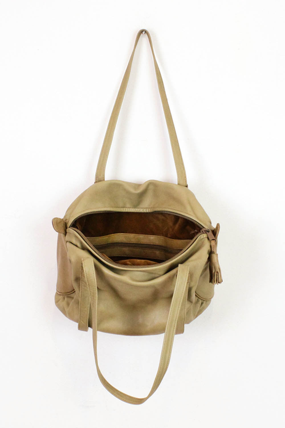 ~ Marked Down ~ Brio! Tan Leather Duffel