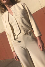 Anne Klein Cream 3pc Suit S/M