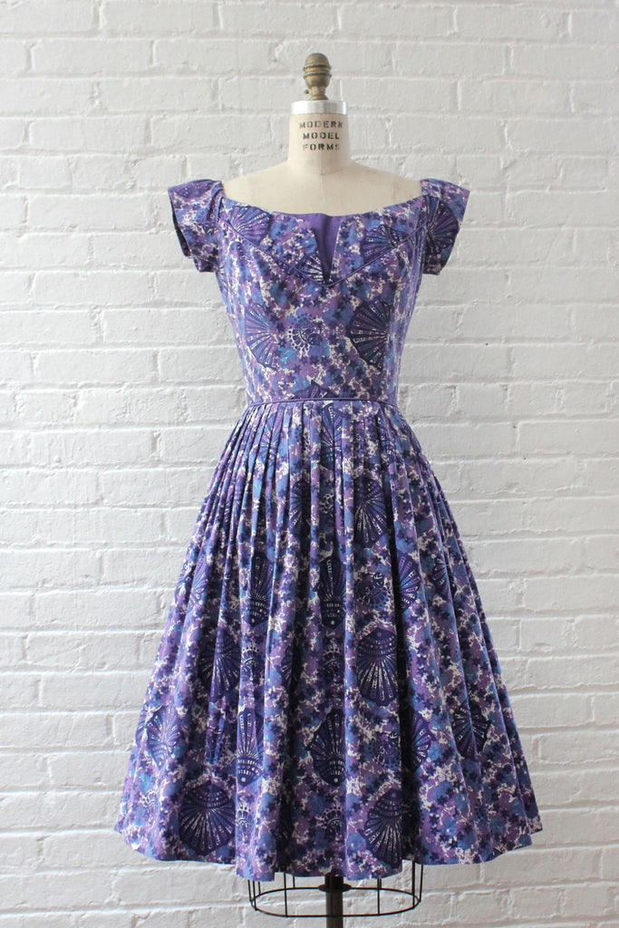 Miami Casuals Violet Batik Dress S/M