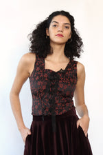 Baroque Lace-up Corset Top S/M