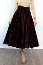 Anne Klein Velvet Circle Skirt M