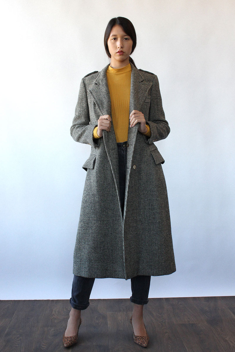 Ralph Lauren Tweed Long Coat M