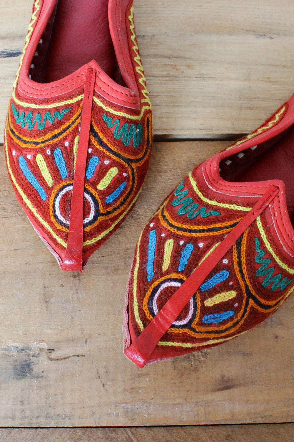 Embroidered Khussa Slippers 8