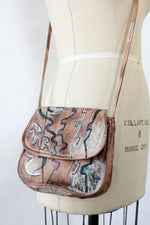 Painted Leather Gem Bag