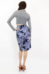 Cyprian Abstract Silk Skirt M