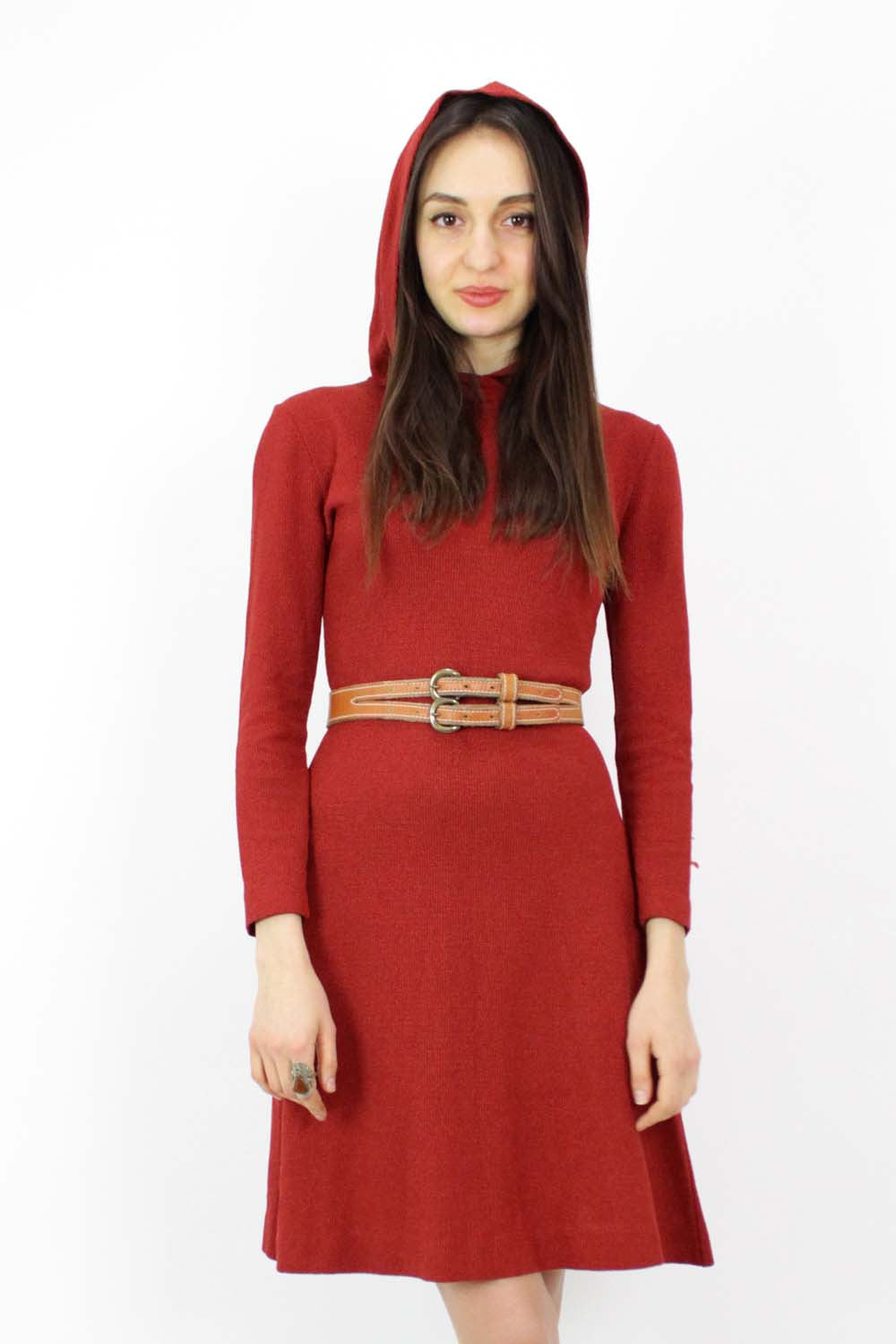 vintage hooded dress