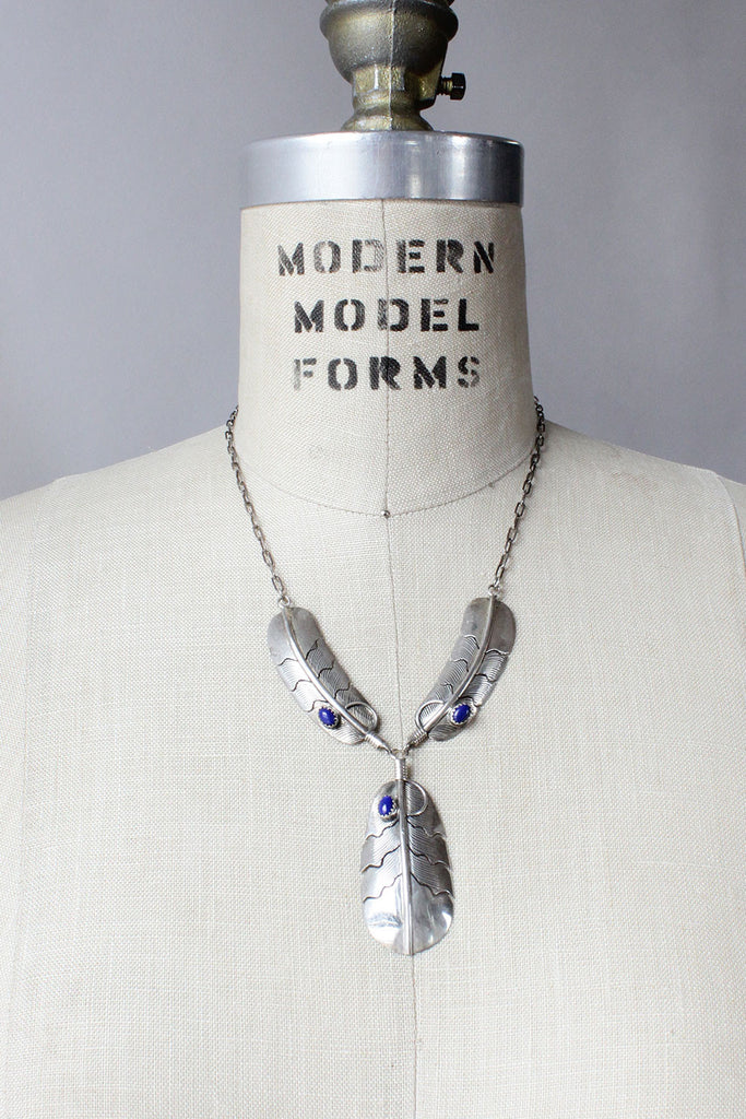 a6d6e71a0db Silver Featherstone Necklace