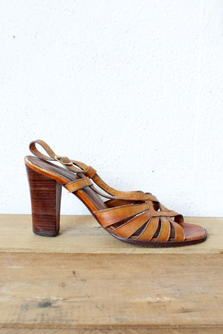 70s Maple Wooden Heels 7